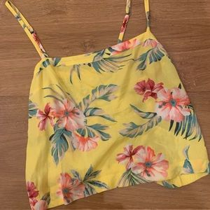 Cropped Hollister tank top